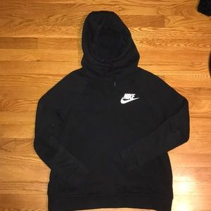 Black Nike Turtleneck Style Sweatshirt
